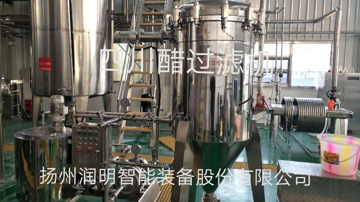 圆盘过滤机在四川生生酱园食品有限公司使用现场