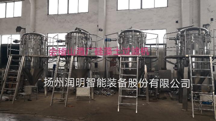 四台30m²硅藻土过滤机发货会稽山酒厂