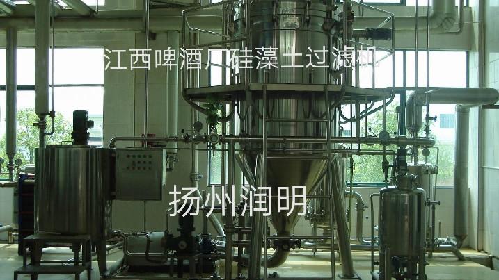 硅藻土过滤机在江西啤酒厂使用现场