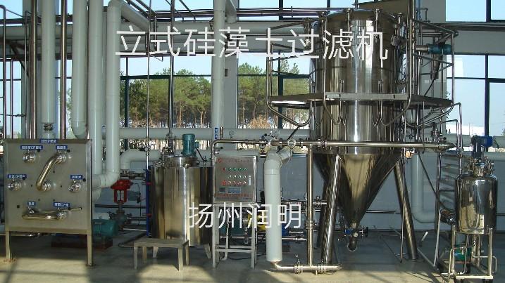 立式硅藻土过滤机云南使用现场